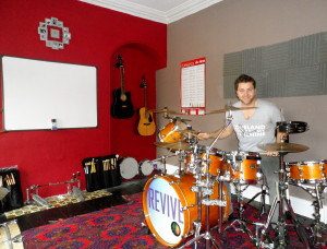 Michael Wright drumming