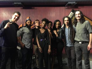 Leah with her band